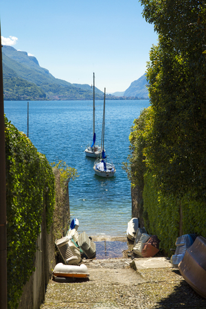 Picturesque view on Lake Como in Bellagio town, Itally