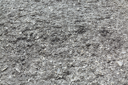 Post-glacial crushed bits of stones in form of flakes