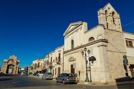 Piazza Marina in Barletta city, region Puglia, Italy