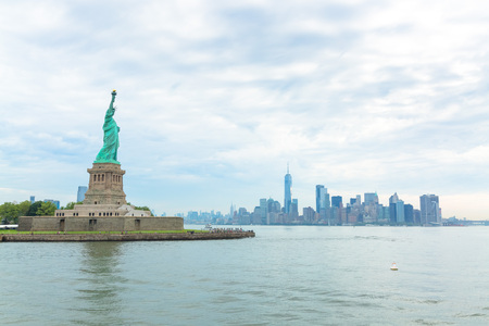 The Statue of Liberty on Liberty Island in New York