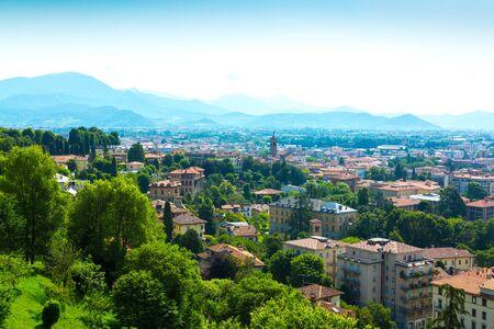 Bergamo city panorama from Citta Alta Old Town, Italy Reklamní fotografie