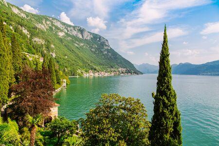 Amazing view of Lake Como in Lombardy region, Verenna city, Italy 版權商用圖片