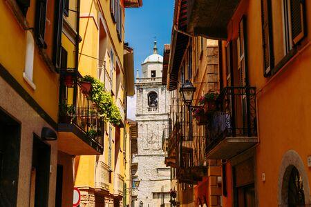 Colorful italian architecture in Bellagio town, Lombardy region in Italy