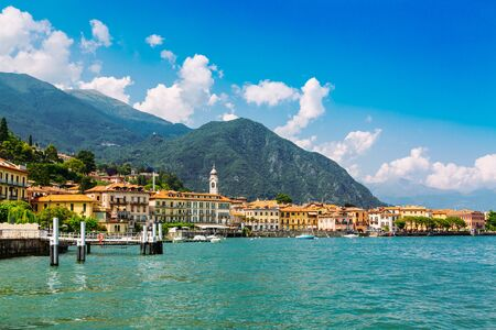 Menaggio town over the Lake Como in Lombardy region in Italy Stockfoto