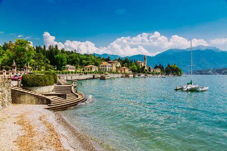 Shore of Lake Como in Tremezzo Town, Lombardy region in Italy