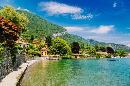 Shore of Lake Como in Lenno Town, Lombardy region in Italy 版權商用圖片