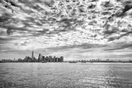 Panorama of Hudson River and Lower Manhattan in New York City, USA Stockfoto