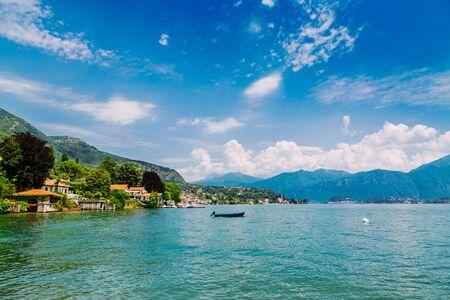 Shore of Lake Como in Tremezzo Town, Lombardy region, Italy