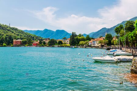 Shore of Lake Como in Lenno Town, Lombardy region, Italy