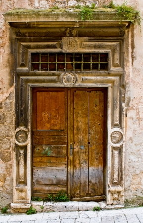 wasted: Old wasted entrance door