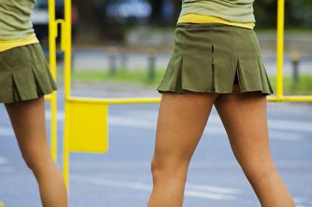 spurring: Cheerleader Stock Photo