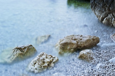 Rocky coast of the Adriatic Sea photo