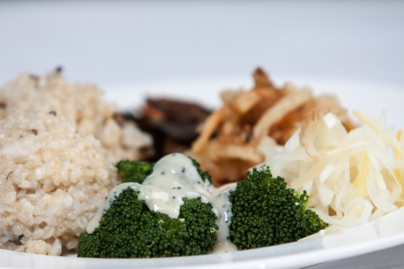 macrobiotic: healthy macrobiotic meal with broccoli