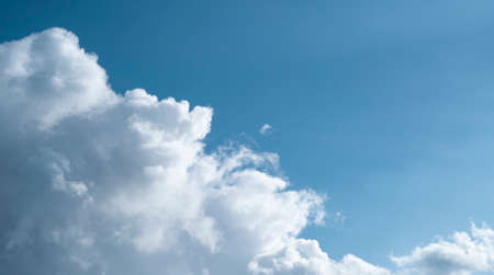 clouds on the background of the blue sky
