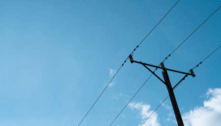 electricity against the blue sky 免版税图像