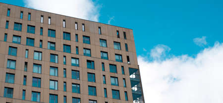 building against the blue sky 免版税图像