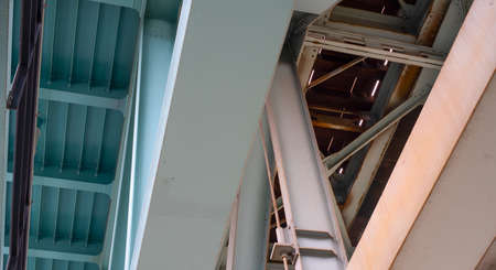 steel structure in green and gray color