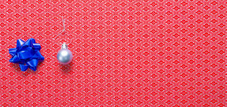 Christmas bauble and gift bow