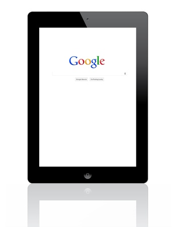 Apple iPad 2 with google search. Stock Photo - 11230269