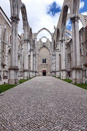 carmo: Famous Carmo Church ruins after the earthquake in 1755 in Lisbon.