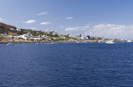 aeolian: Small town at Stromboli Island