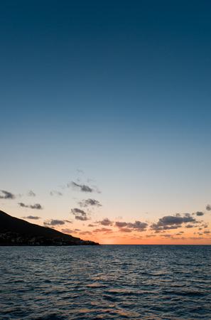 aeolian: Sunset near Panarea island
