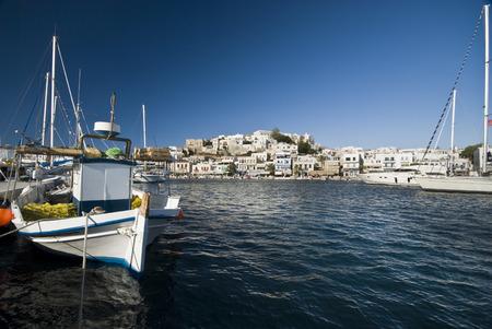 naxos: Harbour in Naxos Stock Photo