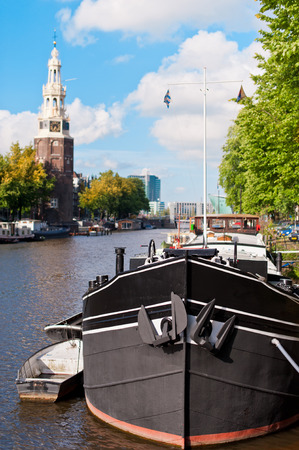 Old ship in Amsterdam photo