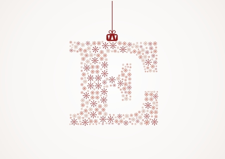 Alphabet letter E  Christmas and New Year  Snowflakes  Flakes