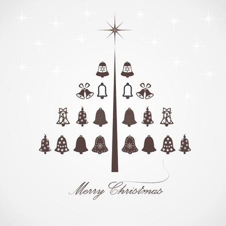 stylized design: Disegno stilizzato albero di Natale con campane