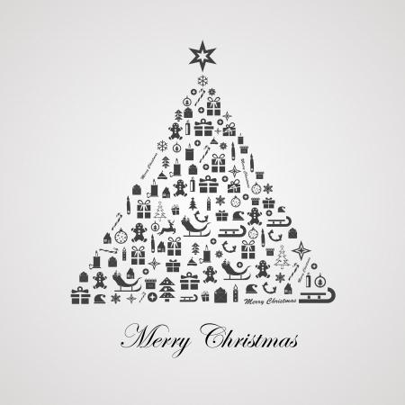 stylized design: Disegno stilizzato albero di Natale