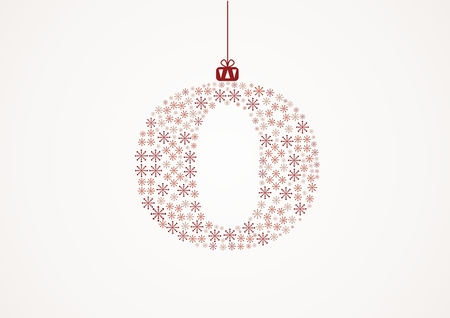alhabet: Alphabet letter O  Christmas and New Year  Snowflakes  Flakes Illustration