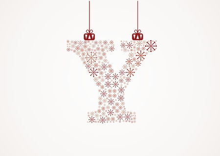 alhabet: Alphabet letter Y  Christmas and New Year  Snowflakes  Flakes