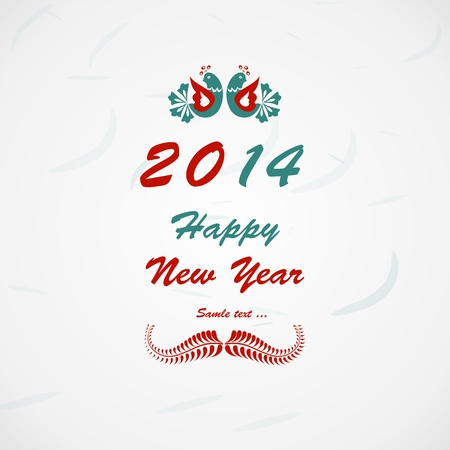 Happy New Year lettering Greeting Card  Vector illustration  Vector
