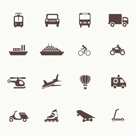 Transportation icons design elements. Vector illustration. Simple icon Vector