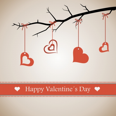 Happy Valentines Day lettering Greeting Card. Background. Vector illustration. Vector