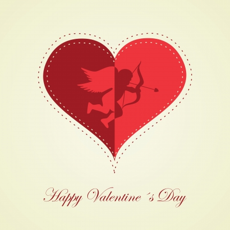 happy Valentines day - greeting card. Vector. Illustration.
