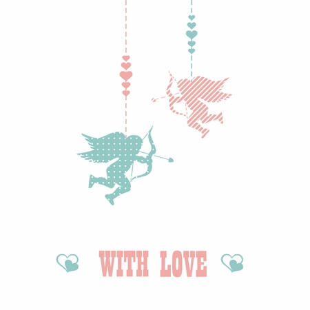 happy Valentines day - greeting card. Vector. Illustration. Vector