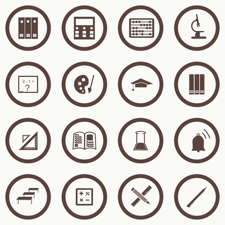 Vector seamless pattern with education icons - abstract. Vector. Vector