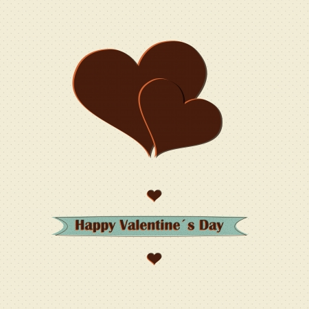 Retro love concept valentines day design  Vector  Illustration  Vector