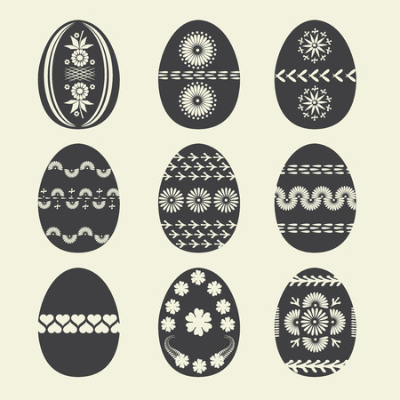Set easter egg illustration  Vector