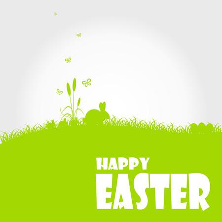 easter egg hunt: Happy easter cards illustration with easter egg  and fonts. Illustration