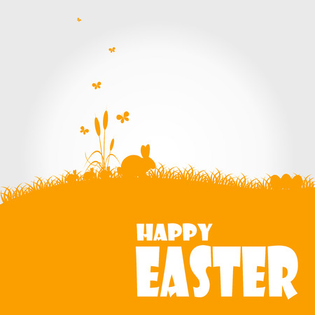 Happy easter cards illustration with easter egg  and fonts.