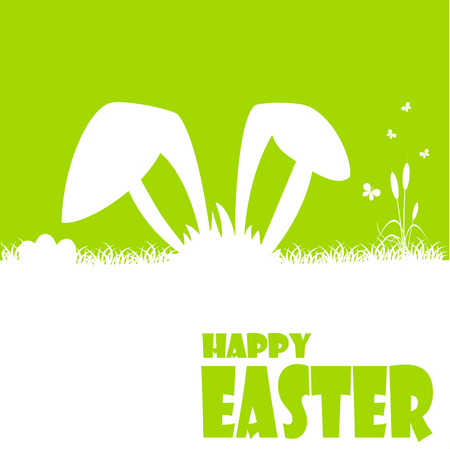Happy easter cards illustration with easter egg  and fonts. Vector. Vector
