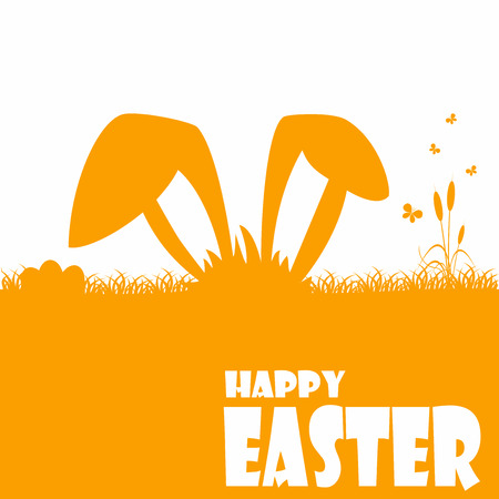 easter background: Happy easter cards illustration with easter egg  and fonts.