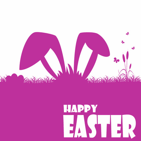 Happy easter cards illustration with easter egg  and fonts. Ilustração