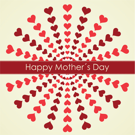 Happy Mothers Day retro background. Vector