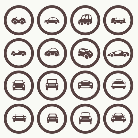 Cars icons set different vector car forms. Web icons. Stock Vector - 26490074