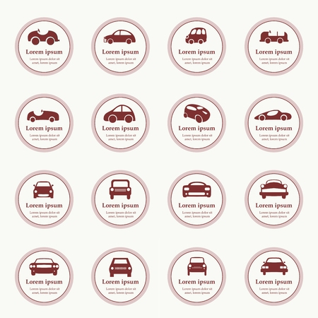 Cars icons set different vector car forms. Web icons. Stock Vector - 26490072