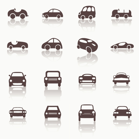 Cars icons set different vector car forms. Web icons. Vector